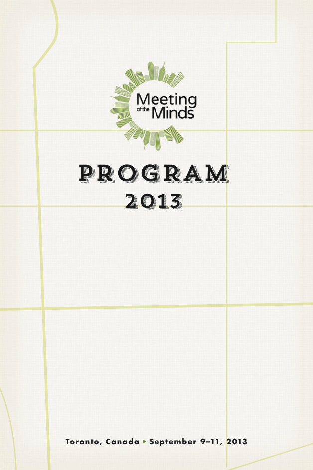 Meeting of the Minds 2013 PDF Program