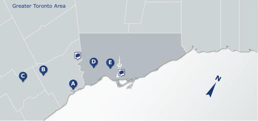 Map of Priya's home location options