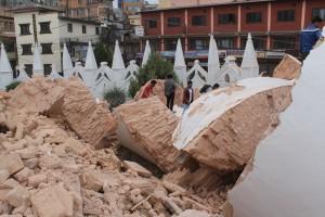 Ruins of the Dharahara tower in Kathmandu [Credit: Salokya]