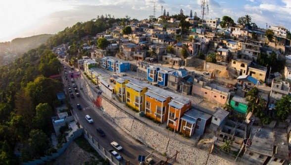 Multi-family residences like the ones opened in April in the neighborhood of Morne Lazarre are relatively new to Haiti. (UCLBP)