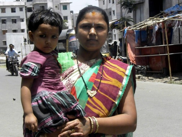 Suman Ben says her family members lost all their savings and possessions in the 2006 flood. She and thousands of others have been relocated away from riverbank communities. (Patralekha Chatterjee)