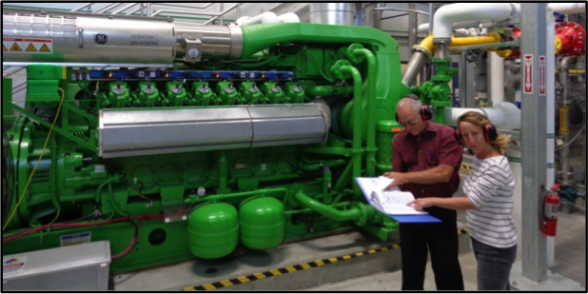 Hayward's new cogeneration engine, installed in 2014