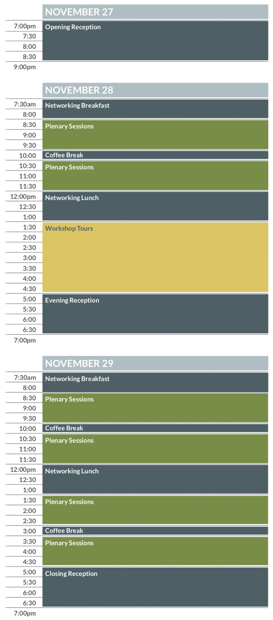 Annual Summit sample schedule - mobile version