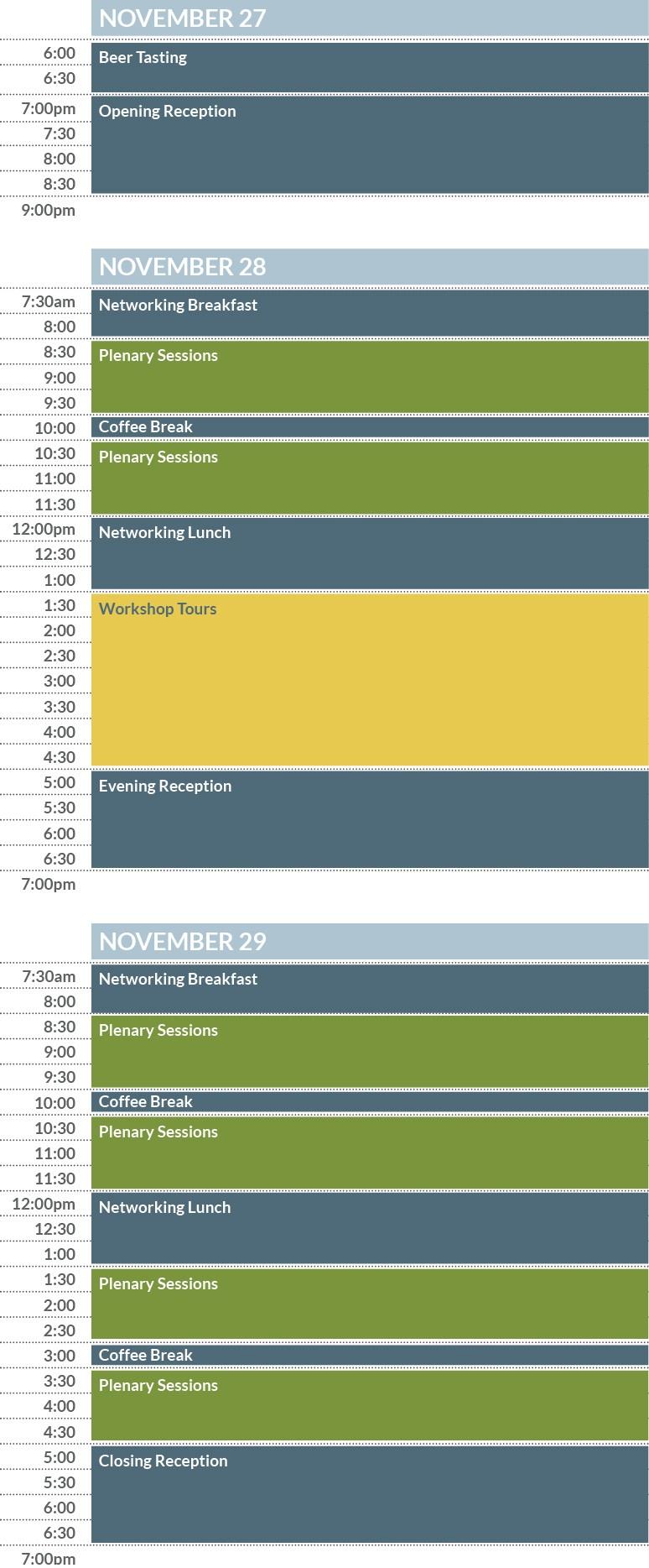 Annual Summit sample schedule - mobile version